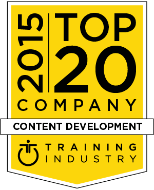 2015 Top 20 Content Development Training Companies Badge